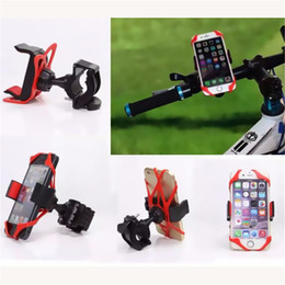 Wholesale Support Cars Iphone - Universal Bike Bicycle Mobile Phone Stand Holders Cellphone Support Clip Car Bike Mount Flexible Phone Holder Extend For Iphone Samsung GPS