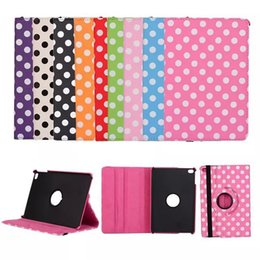 Wholesale Iphone Polka Wallet - polka dot 360 rotating stand folio leather case for ipad mini 2 3 4 air air 2 pro 9.7 12.9