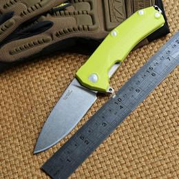 Facas de bolso leão on-line-Leão de Aço molletta KUR D2 lâmina G10 alça bola Rolamento Flipper tático faca dobrável de acampamento ao ar livre engrenagem sobrevivência facas de bolso EDC ferramenta
