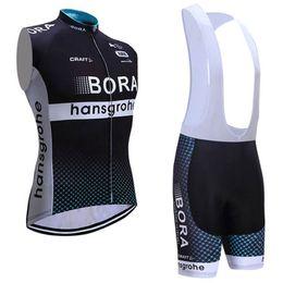 Wholesale Team Cycling Vests - Bora Pro Team 2017 Cycling Vest MTB Ropa Ciclismo Cycling Jerseys Tops+ Bib None Bib Shorts Size XS-4XL Black Bike Wear