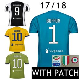 Wholesale Italy Soccer Jerseys - 17 18 Soccer Jersey #10 Dybala Italy MAGLIA Calcio HIGUAIN Italia Goalkeeper Buffon 2017 2018 D.Costa MANDZUKIC Bernardeschi Football Shirts