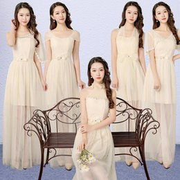 Wholesale Light Colors For Bridesmaids Dresses - 4 colors 5 patterns Size US2-US8 Women clothing sexy gown party sisters long Bridesmaid dress for wedding