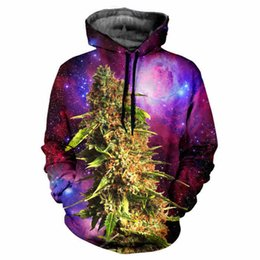 Wholesale Painting Plants - Green color leaves cool plant painting hoodie 3d print spiritual pollution young boys girls fashion worm sweatshirt winter wear cloth