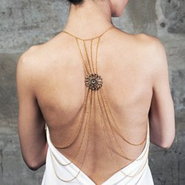 Wholesale Multilayer Body Chain - Fashion Body Jewelry For Women Sexy Multilayer Body Chain Beach Charming Flower Shape Connector Belly Chains