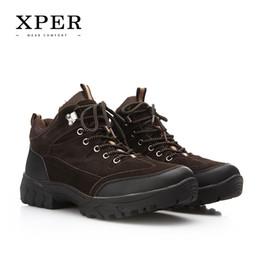 Wholesale Suede Ankle Boots Low Heel - 2016 Brand XPER Men Winter Casual Shoes Lace-up Snow Casual Men Shoes Antiskid Size 40~45 Warm Plus Size #BT002