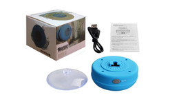 Wholesale Phone Audio For Iphone - Mini Portable Subwoofer Shower Waterproof Speaker Wireless Bluetooth Car Handsfree Receive Call Music Suction Mic For iPhone Samsung
