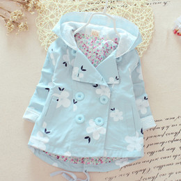 Wholesale Denim Jacket Hooded - New spring and autumn fashion girls casual hooded windbreaker children outerwear coat kids jacket children clothing