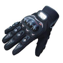 Wholesale Rock Gloves - Very Popular 1Pair Rock Black Short Sports Leather motocross Motorcycle Motorbike Summer Gloves M-XL