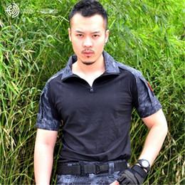 Verano Rusia Soldados Hombres valientes Jungle Actividades manga corta Camo camiseta marrón verde Python patrón Serpentina Imprimir Splice Casual Tops desde fabricantes