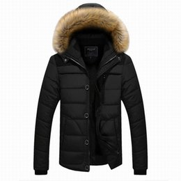 Wholesale Thick Down Clothes - Wholesale- Winter Jackets Men's Warm Casual Plus Thick High Quality Outwear Big Size Brand Clothing Male 5XL Mens Coats Down Jacket Z2737