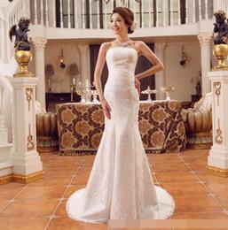 f1c5afc4ff52 Mermaid Wedding Dresses 2019 Modest Plus Size Off Shoulder Trumpet Bridal  Gowns Sweep Train Tulle Lace African Wedding Dress Custom