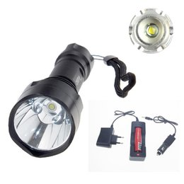 Wholesale High Lumen Led Lamp - New High Power 2000 Lumen 5 Mode XM-L T6 LED C8 Flashlight Torch Lamp Light Super Bright led light use 18650 battery