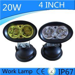 Wholesale Pc Spotlight - 20W LED Work Light Worklight 12V Fog Lamp Offroad Working Light For ATV SUV Motorcycle Truck Boat Spotlight Car Styling 1 pcs