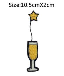Canada 2017 Nouvelle Haute qualité 3D À LA MAIN Brodée Vin Verre Étoile GOUPILLE Bijoux Patchs Badge France BULLION FILS BLAZER BROCHES Offre
