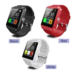Wholesale Cheap Cpus - Smart watch u80 bluetooth cheap android mtk CPU fancy silicone fashion bluetooth watch wrist smartband wholesale iPhone IOS Android fu