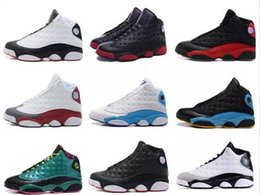 Wholesale Play Day - basketball shoes 13 history of flight HOF DMP black cat he got game play off barons sneakers men women Sports shoes 2017