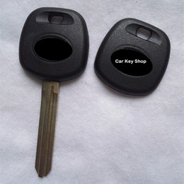 Wholesale Toyota Key Fob Shells - Car Key Blank Transponder Key Shell TOY43 Blade Fit For Toyota Camry Reiz Highlander Yaris Corolla Fob