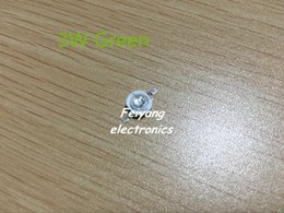 Wholesale 3w Pure White Led Bead - Wholesale- Free shipping! 100pcs lot 3W Green LED chip Lamp beads Pure Green 520-523nm 3.4-3.6V 130-140LM 45mil