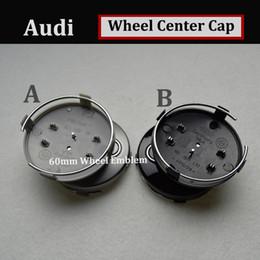 Wholesale Quattro Cars - Auto Wheel Center Hub Cap car Cover 60MM For AUDI gray black Car Emblem auto accessories car style for A4 A5 A6 A7 A8 R8 S RS