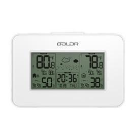 New White Baldr Wetterstation Clock Indoor Outdoor Temperatur Luftfeuchtigkeit Display Wireless Wettervorhersage Alarm Snooze Blue Hintergrundbeleuchtung von Fabrikanten