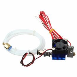 Freeshipping V6 J-head Hotend para filamento 1.75mm Todo Metal Extrusora con ventilador de refrigeración Para Makerbot Reprap Accesorios para impresoras 3D desde fabricantes