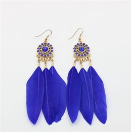 Wholesale Titanium Feather Earrings - 2016 selling new earrings selling feathers earrings wholesale