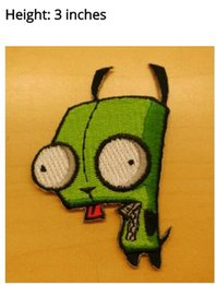 Wholesale Free Animated - Invader Zim Animated TV Series Gir Robot Figure punk rockabilly applique sew on  iron on patch Wholesale Free Shipping party favor