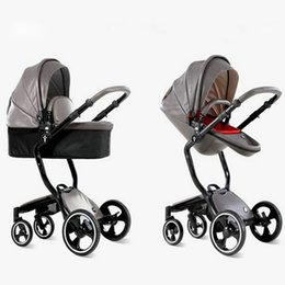 Wholesale Two Way Stroller - foofoo Luxury high landscape shock strollers can sit reclining stroller baby stroller two-way dual summer and winter