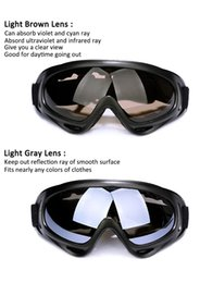 Wholesale cooler atv - X400 Tactical Motorcycle Cycling ATV Glasses Outdoor Sport Cool Motocross ATV Dirt Bike Off Road Racing Goggles Motorcycle Glasses Ski