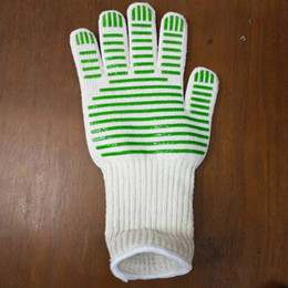 Wholesale Bbq Grill Gloves - Heat Holder Gloves High temperature Resistance anti Kitchen Oven Mitts Microwave Resistant Pot Tools BBQ Grilling Cooking