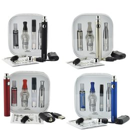 Wholesale Usa Black Metal - Hot Electronic Cigarette Kit 4 in 1 Vaporizer Starter Kit with 1100mah Evod Battery 4 in 1 Tanks DHL free to USA