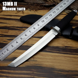 Wholesale Fix Cold - High Quality! Cold Steel Small SAN MAi Samurai Survival Fixed Knives,440c Blade Rubber Handle Hunting Knife FREE SHIPPING