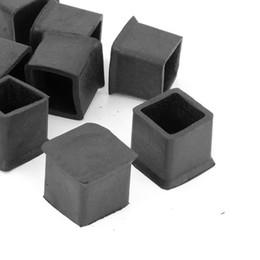 Wholesale Rubber Furniture Protectors - Wholesale- Boutique 10 Pcs Rubber 25mm x 25mm Furniture Chair Legs Covers Protectors