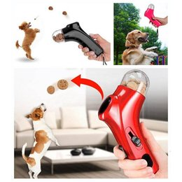 Wholesale Dog Food Snack - Pet Food Launcher Dog Feeder Training Award Fun Launcher Cat Dog Interact Game Toy Fun Snack Time A244