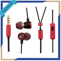 Wholesale Wire Shaft - Wired Metal Earbuds In Ear Headphones with Mic Hands-free Earphone Round Shaft TPE Material Line Fashion SY-M081