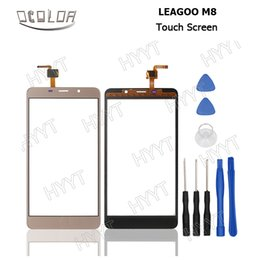 мобильные телефоны leagoo Скидка Wholesale- LEAGOO M8 Touch Screen Original Touch Panel Perfect Repair Parts for LEAGOO M8 Mobile Phone Digitizer Free Shipping