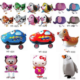 Wholesale Pig Toys For Birthday Gifts - Walking Pet Balloon Animal Foil Balloon Toys Helium Balloon Pig Dog Chick Beetle Zebra Baloon Toys Gift For Christmas Wedding Birthday Party