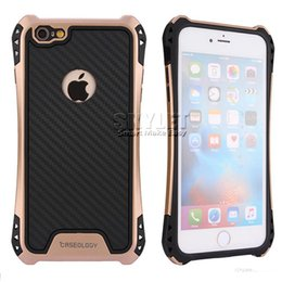 Wholesale Rubber Case Iphone Gold - Caseology Case For Iphone 7 Cases Hybrid Armor Case For Galaxy S7 J7 Rubber Shockproof Combo Carbon Fiber Case BackCover 100PCS OPP Package