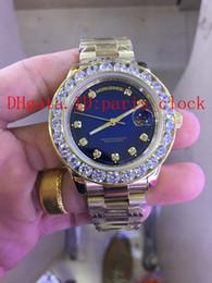 Wholesale Diamond Series - 2017 hot luxury (big diamond series) fully automatic machine blue sky diamonds face man RO see full automatic mechanical watches