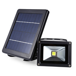 Paneles solares 9v online-10pcs IP65 a prueba de agua al aire libre 9V 3W Panel Solar Power COB LED Floodlight Lámpara de pared solar Luz