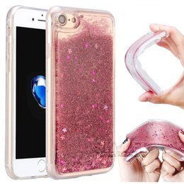Wholesale Blue Star Packaging - For Iphone 8 Plus Water Glitter Case Liquid Glitter Star Quicksand Case For Iphone8 Galaxy Note 8 S8 Soft TPU Cases With Package