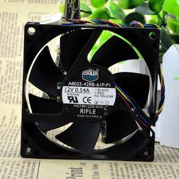 2019 оптовый вентилятор dc 12v Бесплатная доставка для Cooler Master A8025-42RB-61P-P1 DC 12V 0.54A 4-х проводный 4-контактный разъем 80mm 80x80x25mm Сервер охлаждения Квадратный вентилятор дешево оптовый вентилятор dc 12v