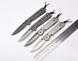 Wholesale D2 Sebenza - Sebenza Folding Blade Knife D2 Blade Steel Titanium Plating Handle Tactical Knife Pocket Camping Knives Survival Tools EDC