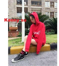 Wholesale Garage S - 2016 2017 rare new hip hop design vetements red hoodie in seoul garage sale Men and women hoodie