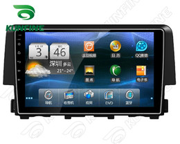 Wholesale Canada Car Stereo - 9 Inch Android 5.1 Quad Core 1024*600 Car DVD GPS Navigation Player Car Stereo for Honda Civic 2016 Radio Headunit Deckless Wifi