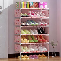 Wholesale Cabinet Wood - Fashion Multi Layers Shoe Cabinet Non Woven Shoes Storage Holder High Capacity Dust Proof Rack Creative 21 9js B R