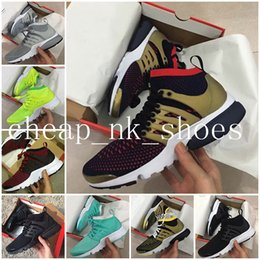 Wholesale Black Cushioned High Tops - 2017 New Arrive Presto Ultra Olympic BR QS High Top Running Shoes for Men Women Breathable Mesh Cushion Sport Sneakers Size 36-45