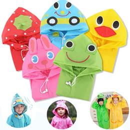 Wholesale Cartoon Children Rain - New Funny Rain Coat Kids children Raincoat Kids Rainwear Waterproof poncho Animal Raincoat cartoon raincoats IA024