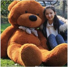 "Wholesale Toy Bear Foot - 2017 hot sale 6.3 FEET TEDDY BEAR STUFFED LIGHT BROWN GIANT JUMBO 72"" size:160cm"