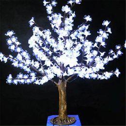 Wholesale Cherry Light Tree Green - 1M Height Outdoor Artificial Christmas Tree LED Cherry Blossom Tree Light 270pcs LEDs Straight Tree Trunk Free Shipping LED Light